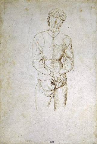 Study of a Young Man with his Hands tied behind his back, 1438 - Пизанелло