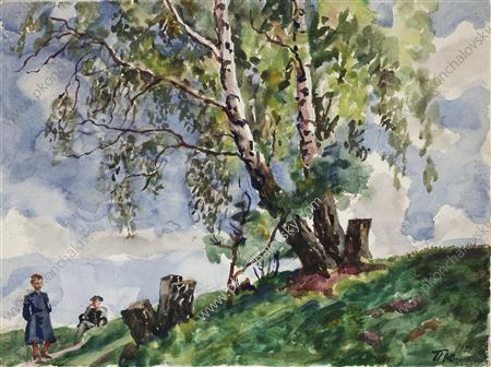Birches in the Knobs, 1941