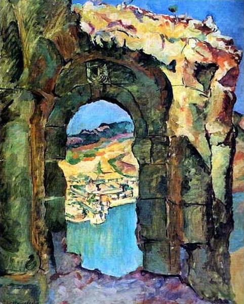 From the ruins of the Mtsyri, 1927 - Pyotr Konchalovsky