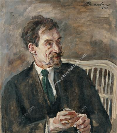 Portrait of an art critic V. A. Nikolsky, 1933