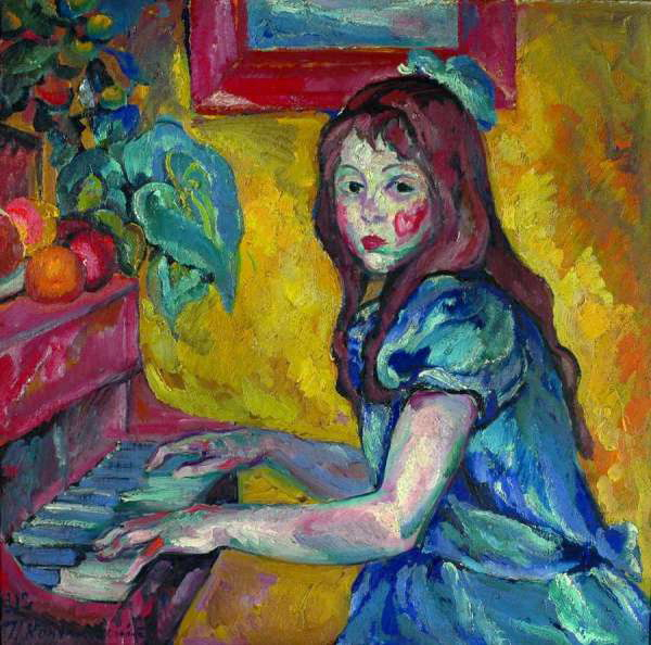 Portrait of daughter - Pyotr Konchalovsky