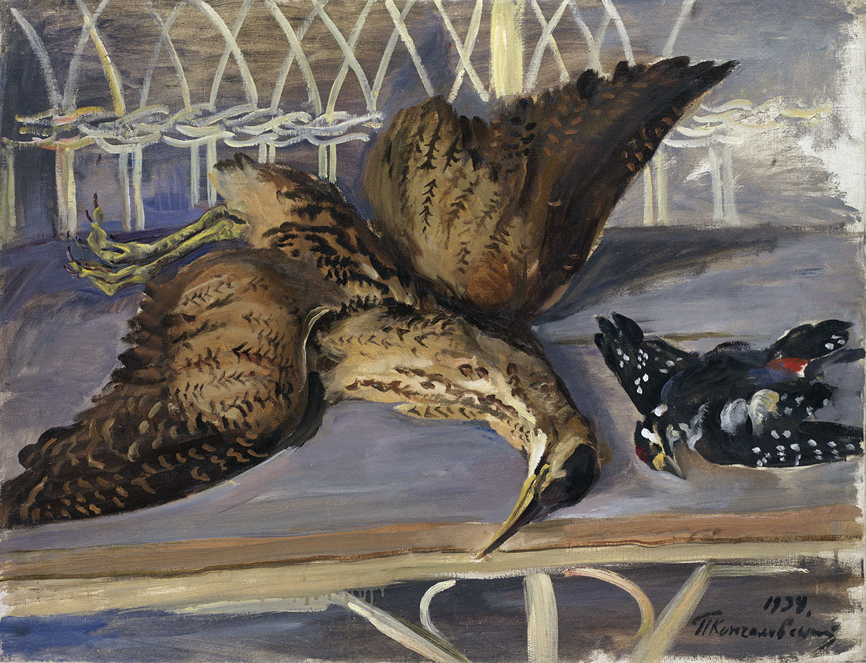 Still Life with Bittern and Woodpecker, 1934
