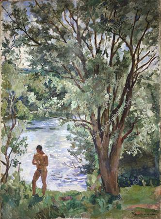 Volodya by the river, 1938