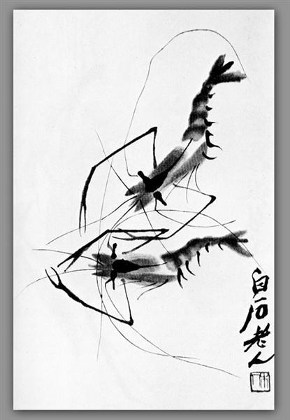 Shrimp - Qi Baishi
