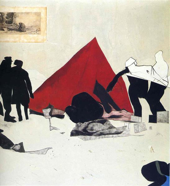 Dismantling the Red Tent - R. B. Kitaj