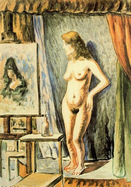 Interior with nude - Rafael Zabaleta