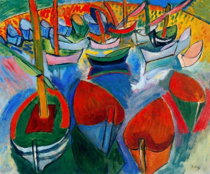 Boats at Martigues, c.1908 - Raoul Dufy