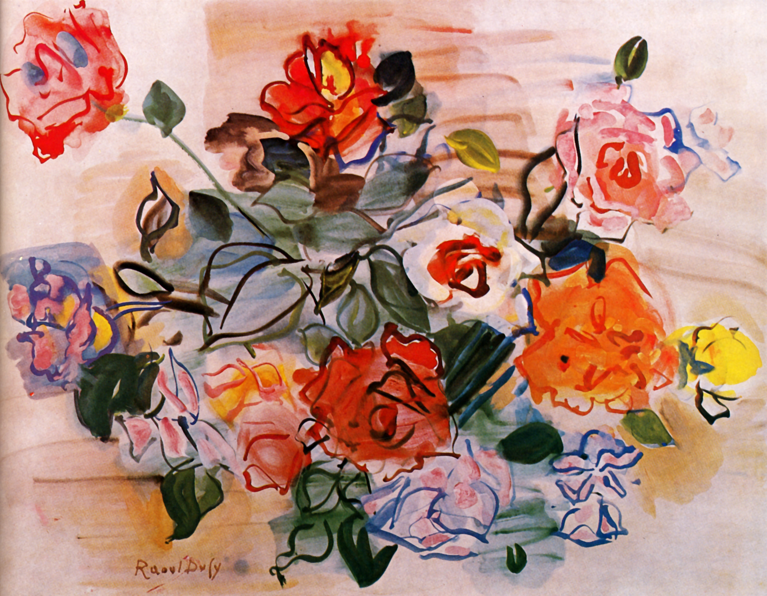 pink bunch 1940 raoul dufy