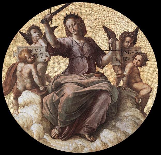 Justice, from the 'Stanza della Segnatura', 1509 - 1511 - Raphael