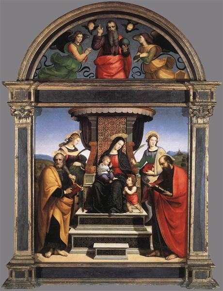 Madonna and Child Enthroned with Saints, 1504 - 1505 - Raphael