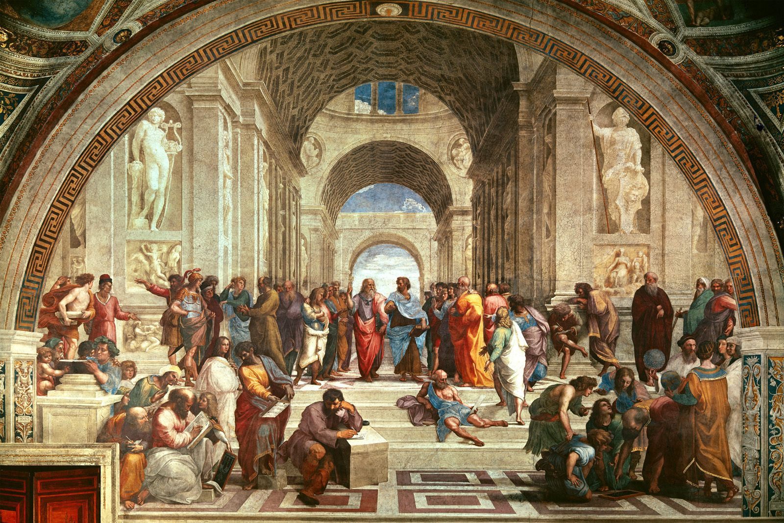 Image result for raphael school of athens