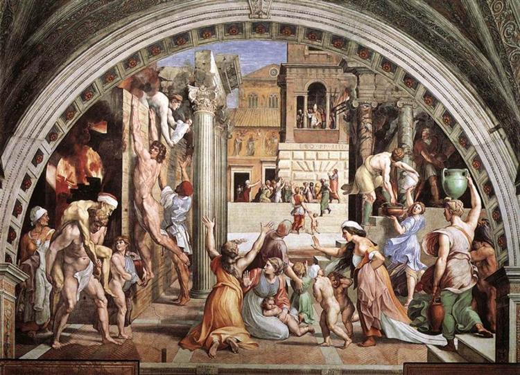 The Fire in the Borgo, 1514 - Raphael