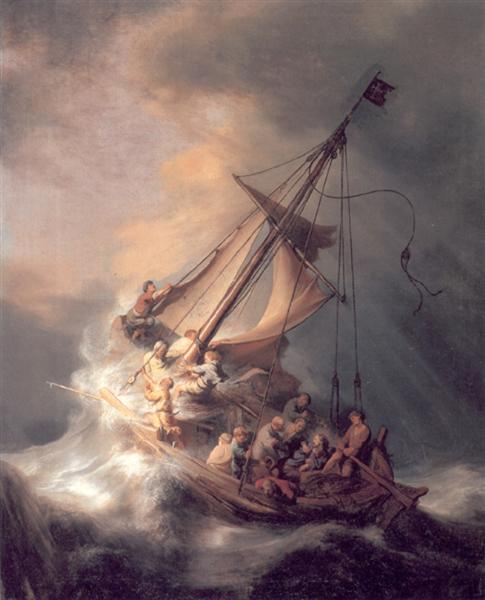 The Storm On The Sea Of Galilee 1633 Rembrandt Wikiart Org
