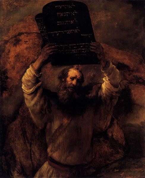 Moses Smashing the Tablets of the Law, 1659 - Rembrandt