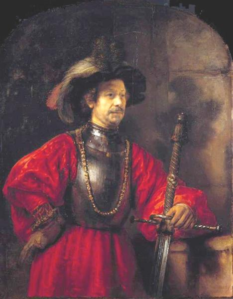 Portrait of a man in military costume, 1650 - Rembrandt