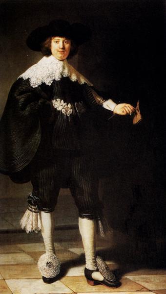 Portrait Of Maerten Soolmans, 1634 - Rembrandt