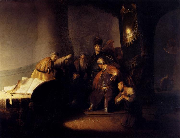 Repentant Judas Returning The Pieces Of Silver, 1629 - Rembrandt