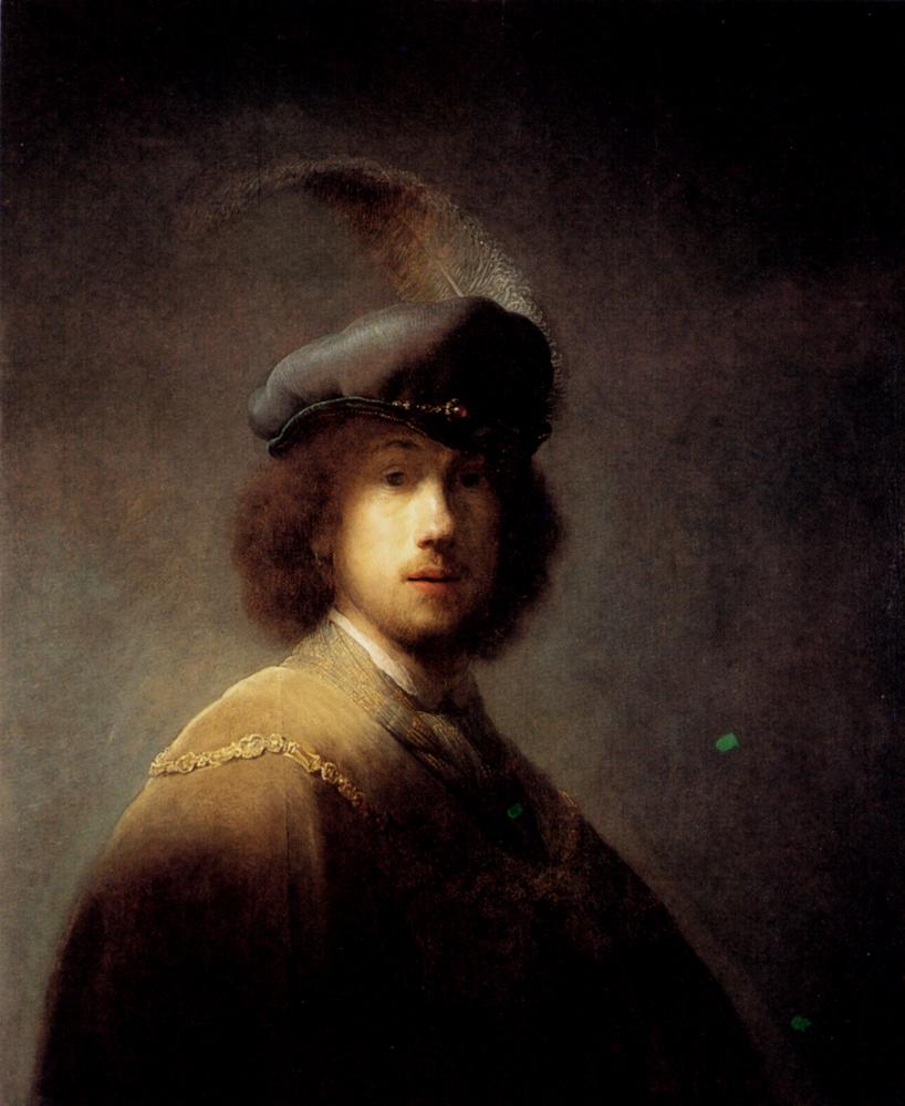 Rembrandt Van Rijn Self Portrait 1629 Self-portrait In A Plu...