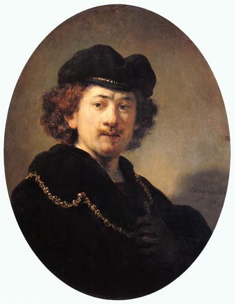 Self-portrait with Hat and Gold Chain, 1633 - Rembrandt