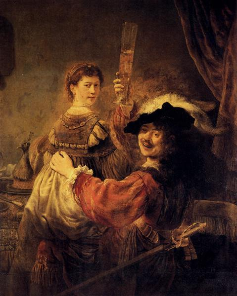 Self-portrait with Saskia in the Parable of the Prodigal Son, c.1635 - Rembrandt