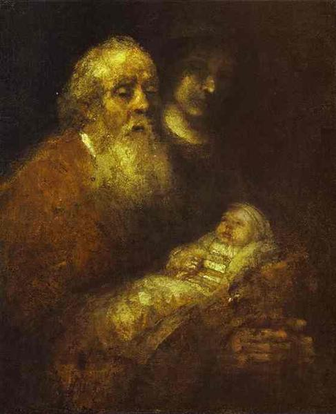 Simeon with the Christ Child in the Temple - Rembrandt