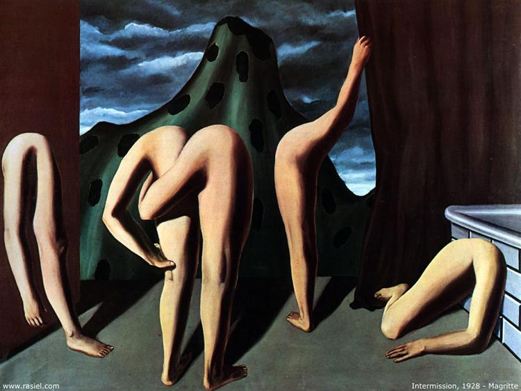 Intermission, 1928 - Rene Magritte