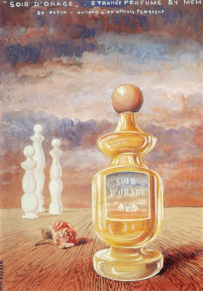 Soir d'orage, strange perfume by mem, c.1946 - Rene Magritte
