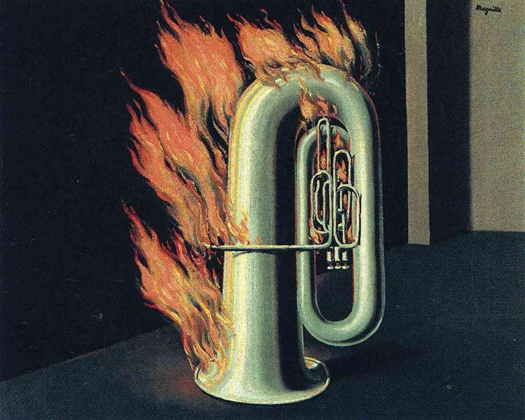 The discovery of fire, 1935 - René Magritte