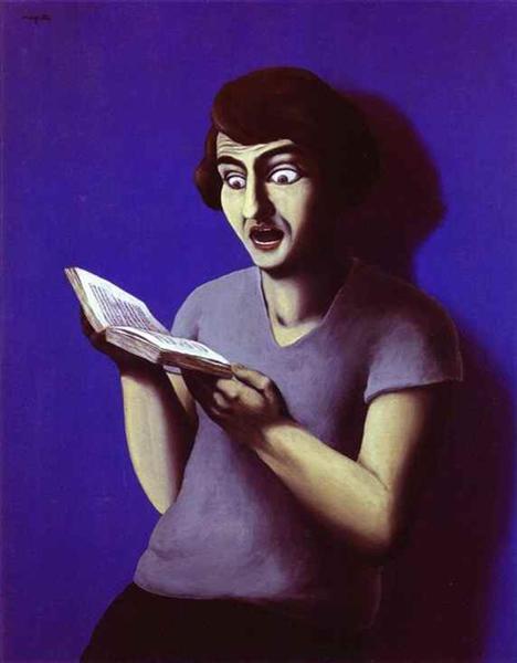 The submissive reader, 1928 - Рене Магрітт