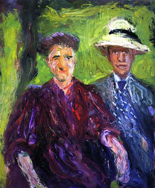 Double Portrait (green background), 1908 - Richard Gerstl