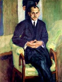 Portrait of a seated man - Richard Gerstl