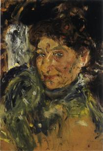 Portrait of Mother, Maria Gerstl, unfinished - Richard Gerstl