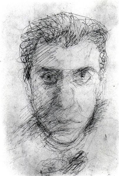 Self-Portrait, c.1907 - c.1908 - Richard Gerstl