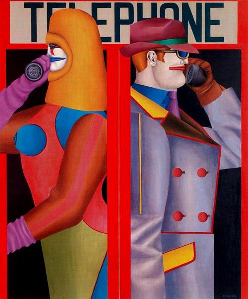 Telephone, 1966 - Richard Lindner