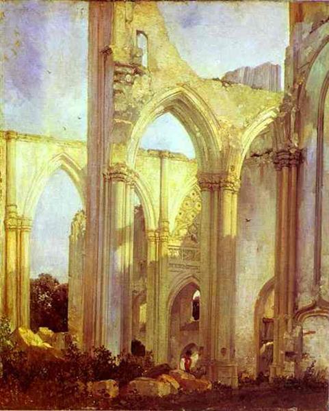 Abbey of St. Berlin, near St. Omer, 1823 - Richard Parkes Bonington