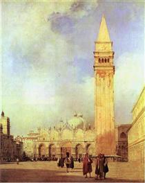 Piazza San Marco, Venice - Річард Паркс Бонінгтон