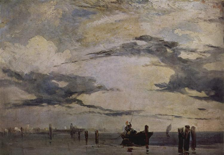 The Adriatic coast, c.1820 - Richard Parkes Bonington