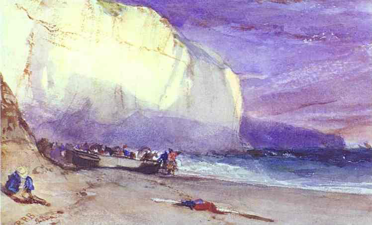 The Undercliff 1828 Richard Parkes Bonington Wikiart Org
