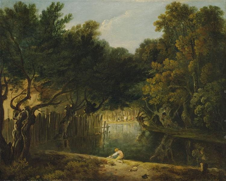 View of the Wilderness in St. James's Park, 1775 - Richard Wilson