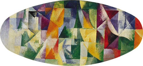 Windows Open Simultaneously 1st Part, 3rd Motif - Robert Delaunay