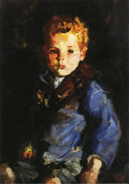 The Irish Boy in Blue Denim - Anthony Lavelle, 1927 - Robert Henri