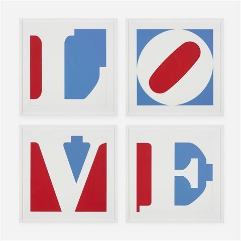 Four Panel Love, 1972 - Robert Indiana