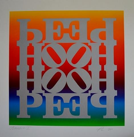 Summer I (HOPE Wall: Rainbow Roll #1), 2010 - Robert Indiana