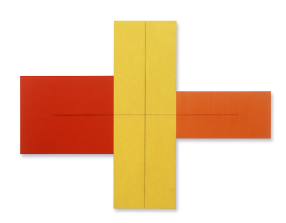 + Within + (Red, Yellow, Orange) - Robert Mangold