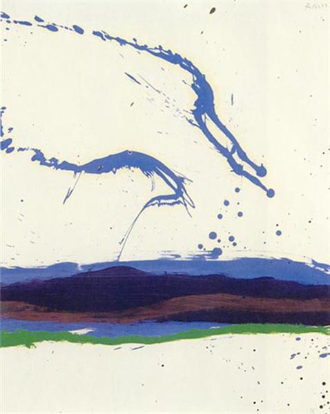Beside the Sea No. 18, 1962 - Robert Motherwell