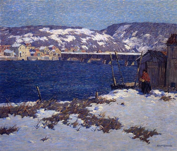 The Two Shores, 1915 - Robert Spencer