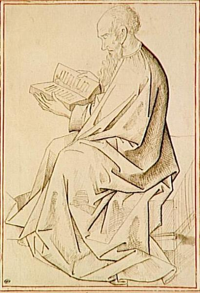Etude of figure the evangelist - Rogier van der Weyden