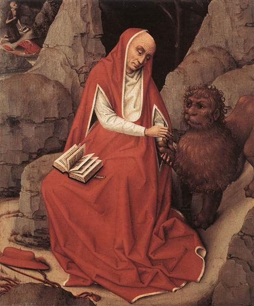 Saint Jerome and the Lion, 1450 - Rogier van der Weyden