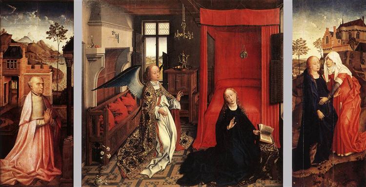 The Annunciation, 1440 - Rogier van der Weyden