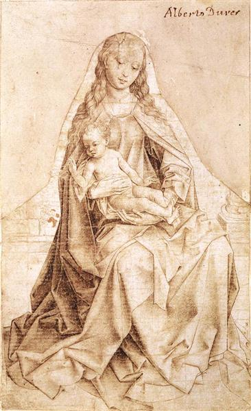 Virgin with the Blessing Child, 1450 - 1455 - Rogier van der Weyden